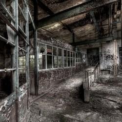 fabriek ex DDR, Duitsland, Leipzig