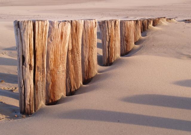 Paaltjes op het strand - Deze foto is genomen met een gratis fotowandeling van pixelclass.nl aan het strand bij Nieuw Haamstede.