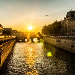 Sunset over Pont Neuf, Paris