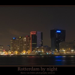 Rotterdam by night (panorama in HDR)