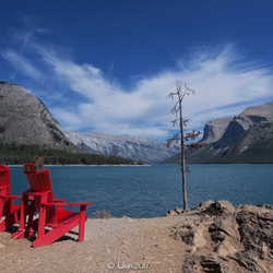 Take a Seat, Enjoy the view. Lake Minnewanka