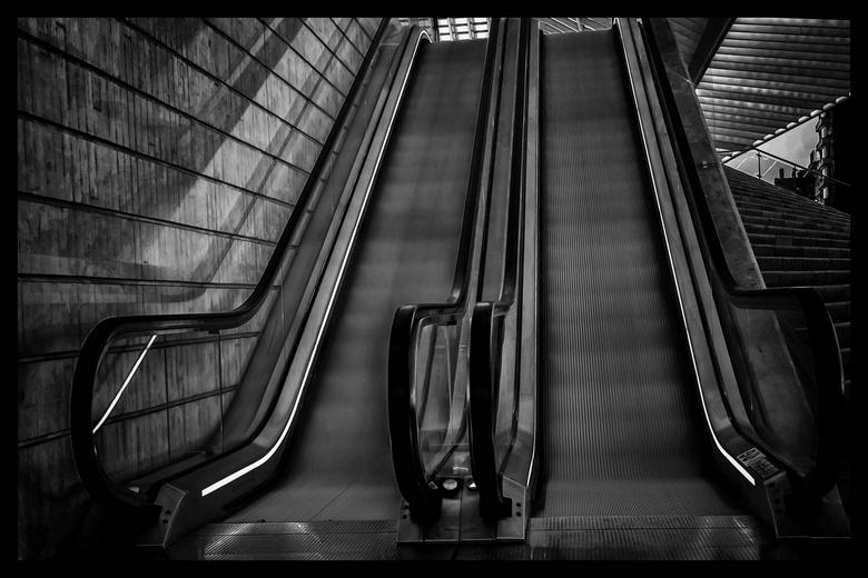 Roltrap, station Luik, Guillemins - Roltrap, station Luik, Guillemins