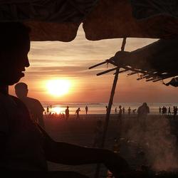 BBQ aan het strand in Myanmar