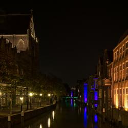 Twee kanten in Dordrecht bij nacht.