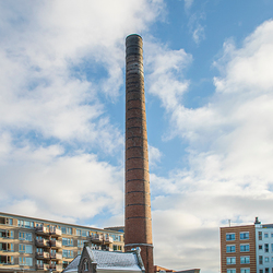 Schoorsteen-portiershuisje Van Heek-Scholco Textielfabriek