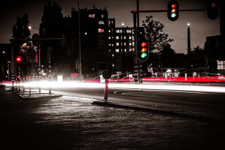 Street lighttrails  -