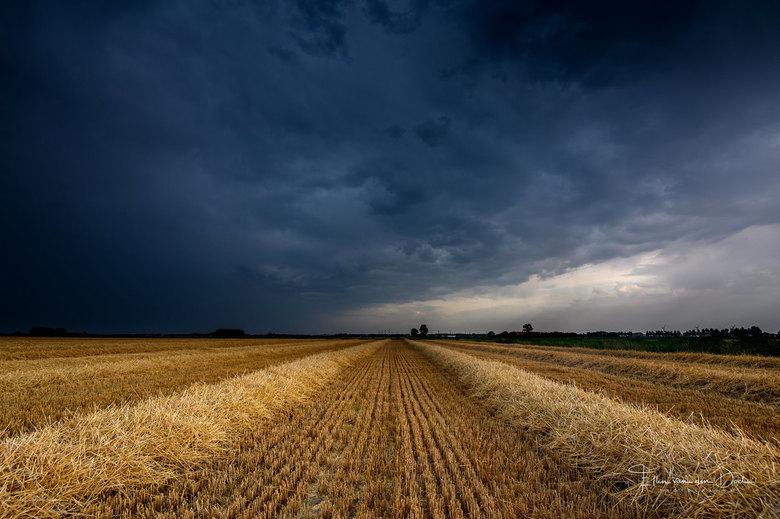 Rain and Thunder - Een avond in de polder met gave dreiging in de lucht door een passerende bui.