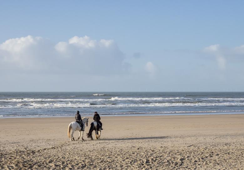 Op het Strand - Bijna geen mens op het strand.<br /> Tijd voor een strandwandeling en genieten van het verse lucht en het geluid van de zee. <br />