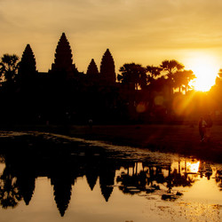 Zonsopgang Angkor Wat