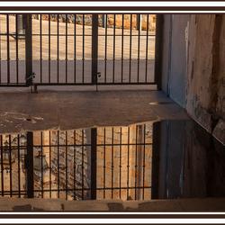 reflectie in een waterplas