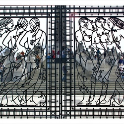 A world behind the steel gate