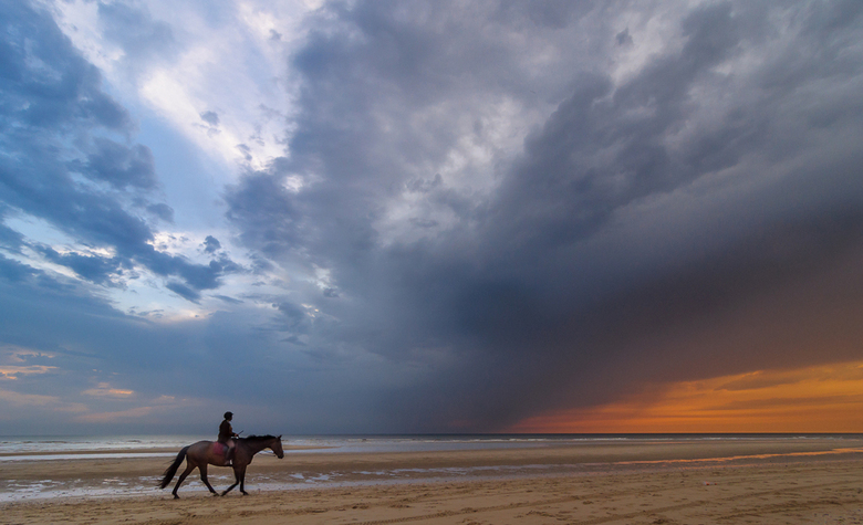 Rider on the Storm - Rider on the Storm by Martijn van der Nat <br /> Taken at Katwijk, The Netherlands<br /> ISO 500, f9, 11 mm, 1/80 sec<br /> <b