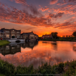 Sunset by the steam museum in Medemblik