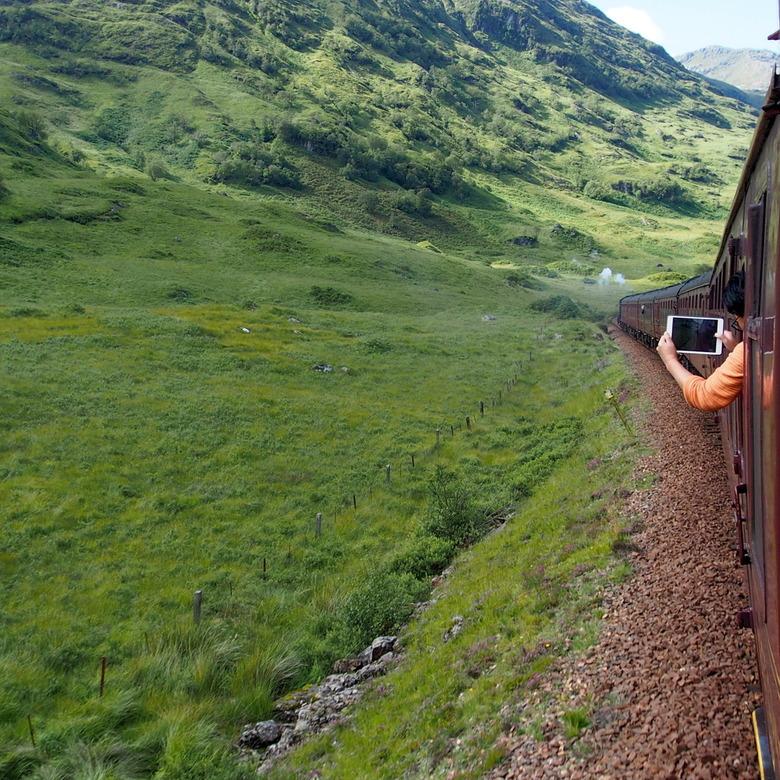 Foto maken van de trein