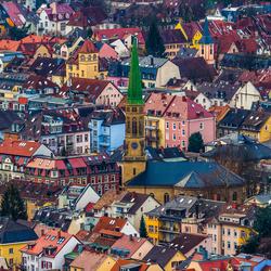 Kleurrijk Freiburg im Breisgau