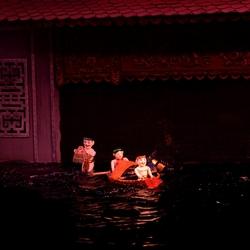 Het waterpoppentheather in Hanoi.