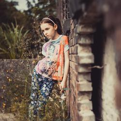 Mijn dochter haar eerste fashion shoot