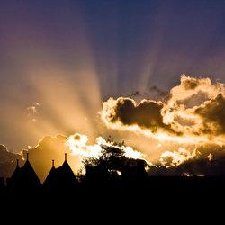 sunset of Volendam