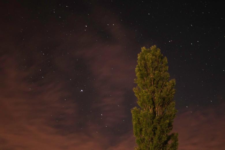 Sterrennacht - De opkomende bewolking tijdens het fotograferen van de sterren.