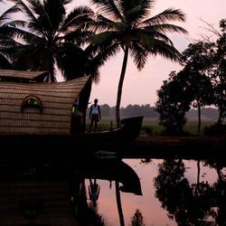 Woonboot in Kerala