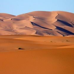 Zandduinen Erg Chebbi Marokko