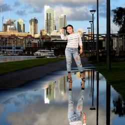 Weerspiegeling in Sydney Australie