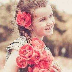 retro flower girl