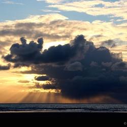 Sunset IJmuiderstrand