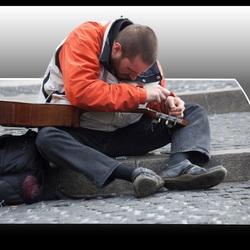 Muzikant op de Dam