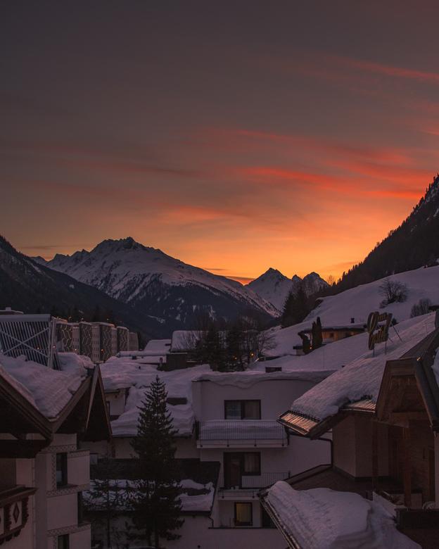 Zonsondergang, Ischgl