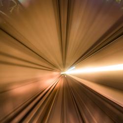 Docklands Light Railway tunnel