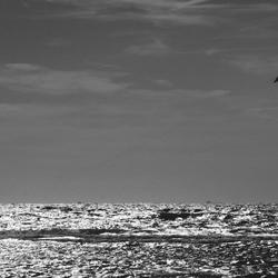 Kitesurf at sunset