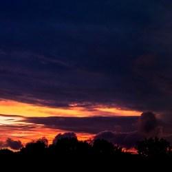 zonsondergang panorama