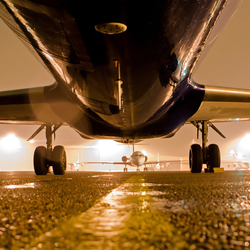 Plane at night