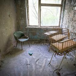 Prypiat (verdrijvingszone Tsjernobyl - Oekraïne) - Kinderafdeling in ziekehuis