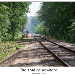 The trail to nowhere...