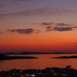 Zonsondergang Mykonos