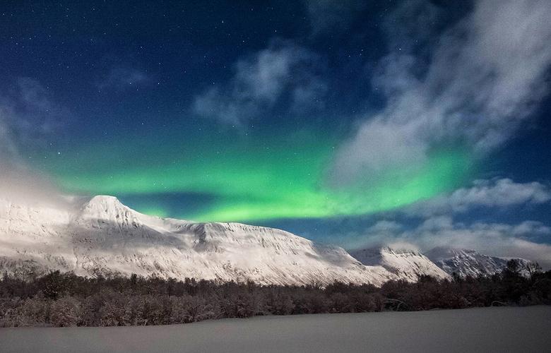 Noorderlicht boven Ramfjord