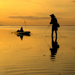Before sunrise at Sanur Beach