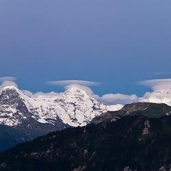 Eiger, Monch en Jungfrauw 'Altocumulus lenticularis'
