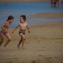 Spelende kinderen - Normandië