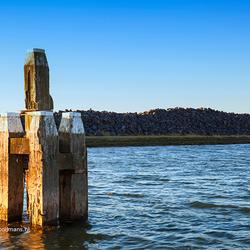 Peiler bij Breezanddijk in de Waddenzee
