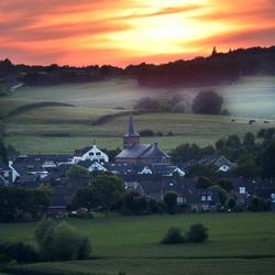 Zonsondergang Epen Zuid Limburg