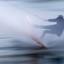 icm van een boardwaterskier