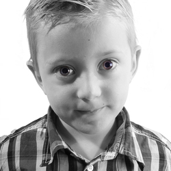 Lege blik van een kind