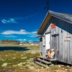 Hike naar een DNT hut in Noorwegen (Jotunheimen)