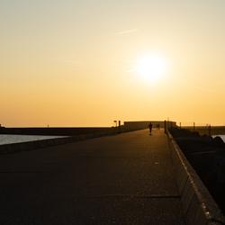 Zonsondergang Pier Noord