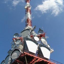 TV Mast  boven Bregenz op 1050 m