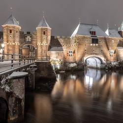 Koppelpoort Amersfoort..... maar nu met sneeuw...