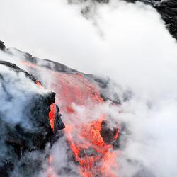 Lava van de vulkaan Kilauea.